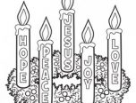 christmas advent wreath coloring pages