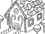 coloring pages gingerbread man house