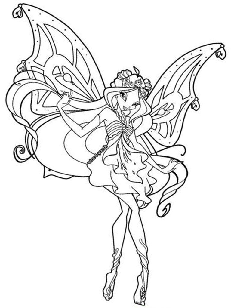 winx club coloring pages for girls