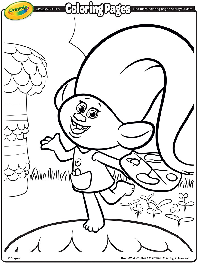 Dreamworks Trolls Coloring Pages