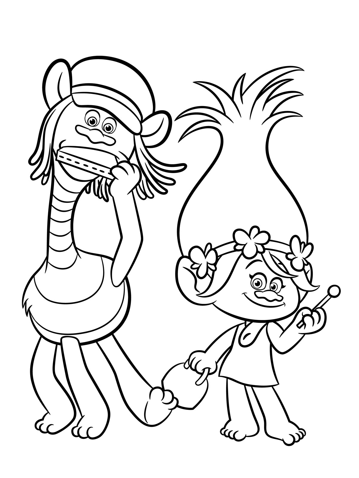 Trolls Coloring Pages Raskraski 01