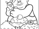 Trolls Movie Biggie Coloring Page
