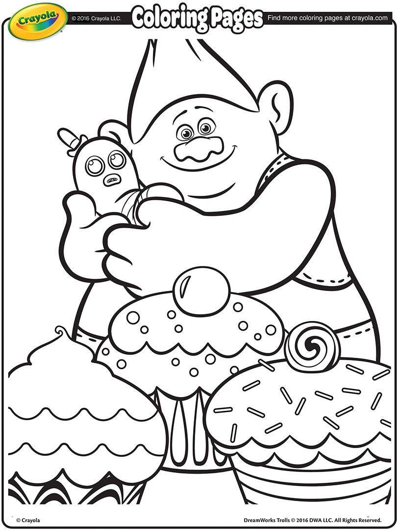 Trolls Movie Biggie Coloring Page 01