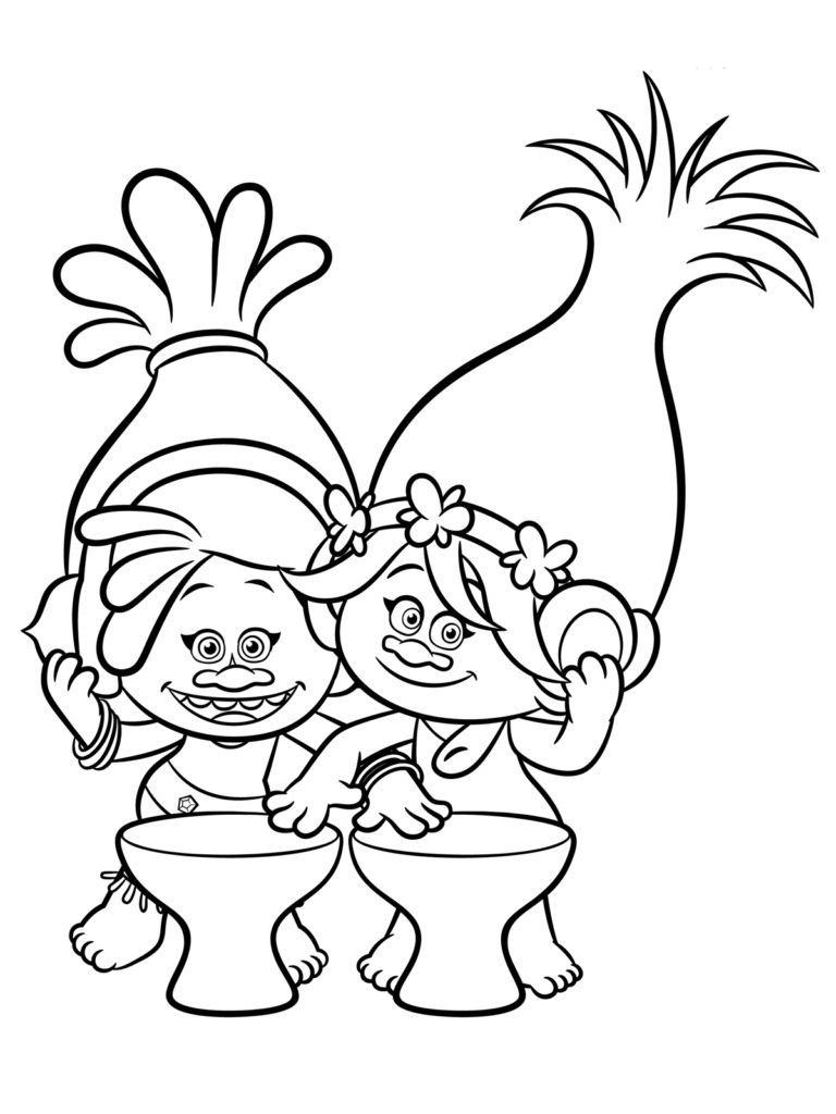 Trolls Movie Coloring Pages 01