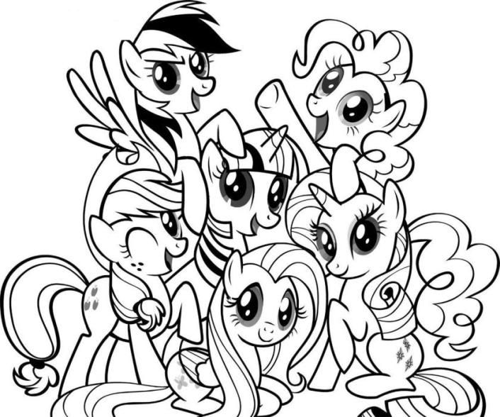 pony coloring sheets download and print my little pony friendship is magic coloring pages printable