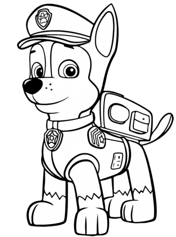 Paw Patrol Chase coloring page 2983423897432