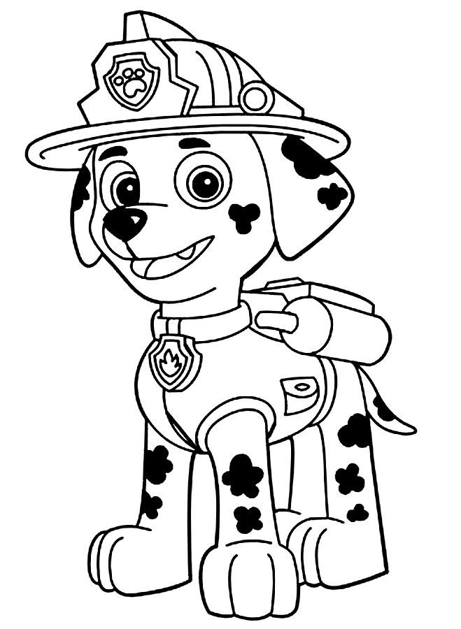 Paw Patrol Marshall Coloring Pages 01