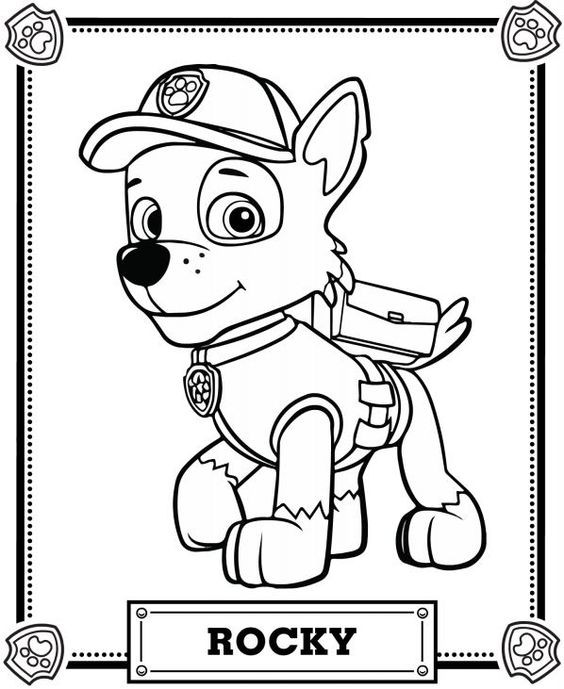 Paw Patrol Rocky Coloring Pages 01