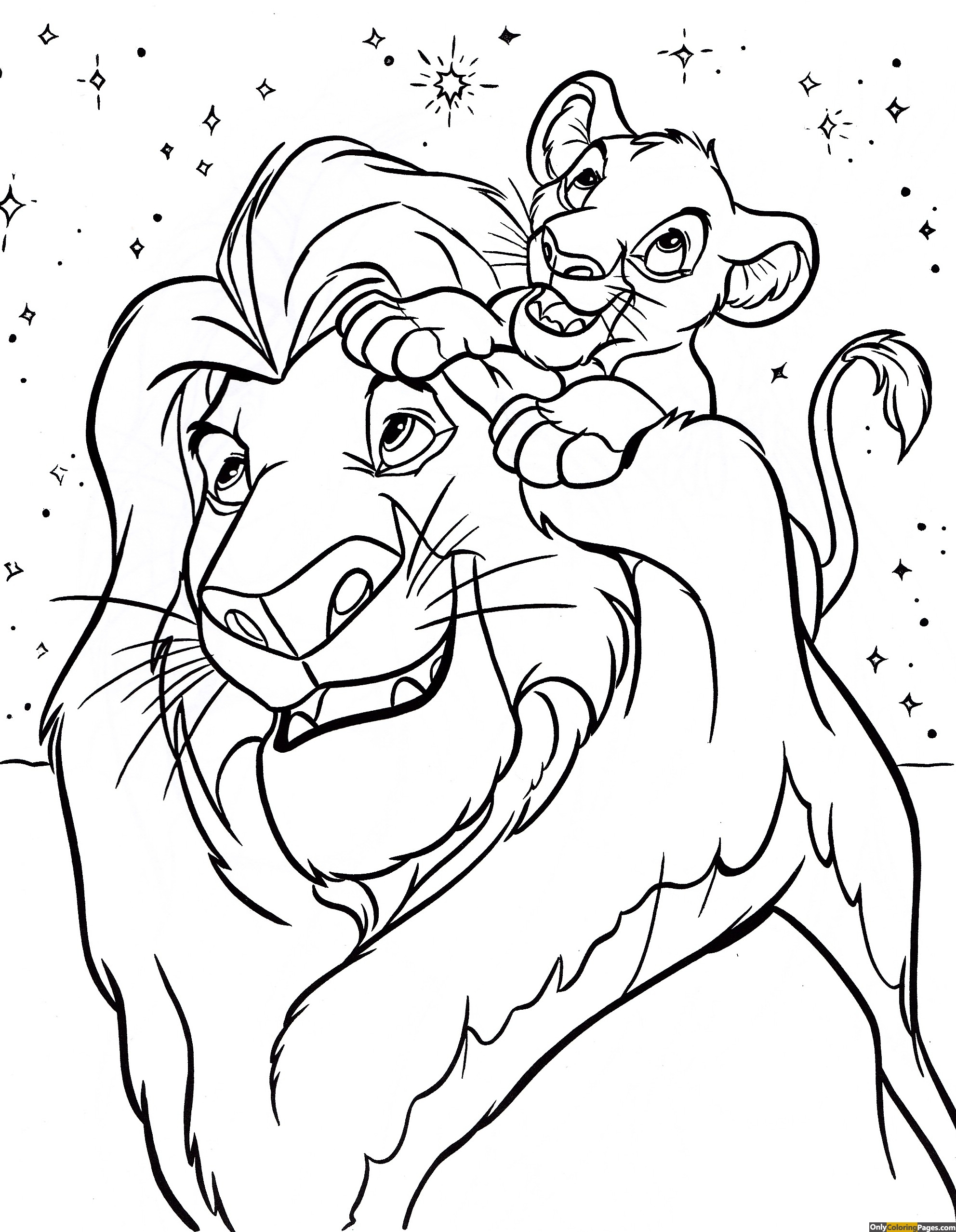 Disney coloring pages lion king only coloring pages for Lion king christmas coloring pages