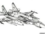 Fighter Jet Coloring Pages