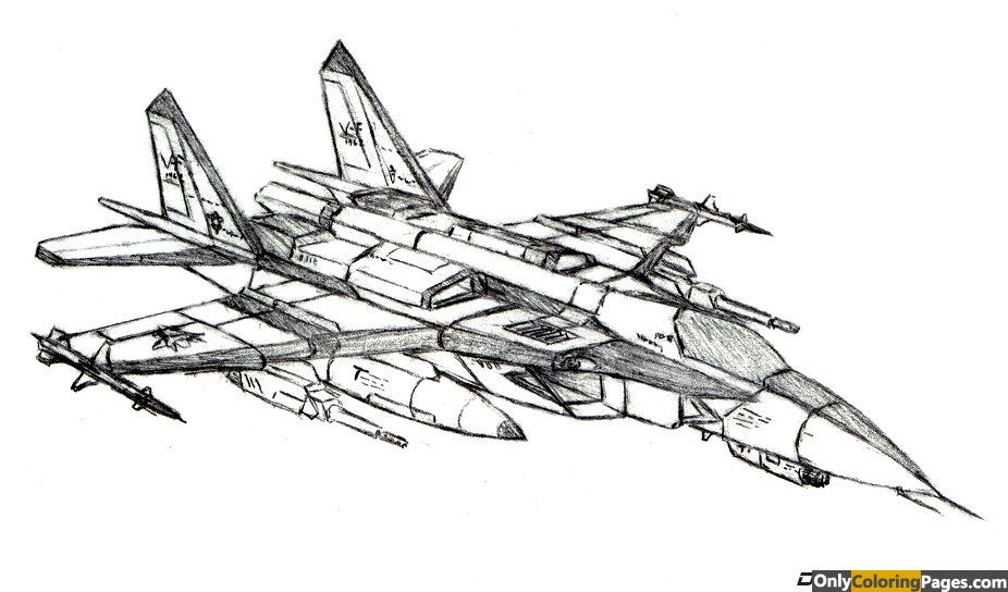 Fighter Jet Coloring Pages 01