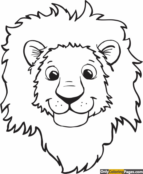 Lion Head Coloring Pages 01