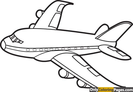 Simple Airplane Coloring Pages 01