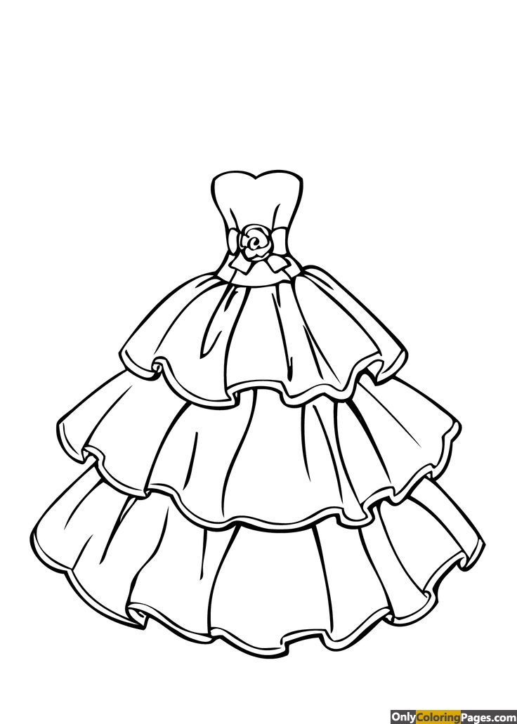 Clothes coloring pages for adults free printable online for Clothing coloring page