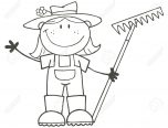 girl farmer coloring pages
