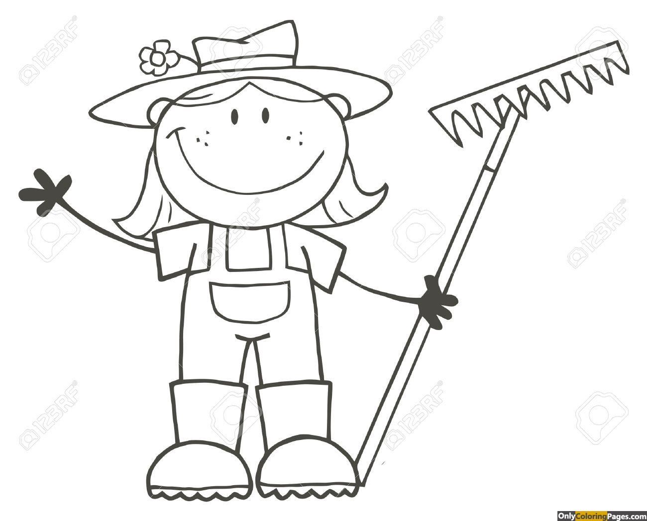 girl-farmer-coloring-pages