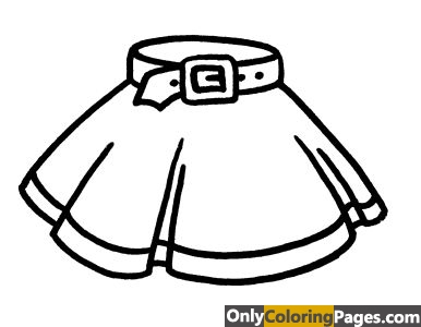 girls clothes coloring pages