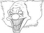 killer clown coloring pages