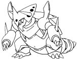 mega pokemon coloring pages