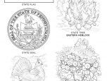 pa state symbols coloring pages