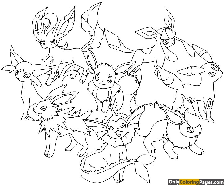 pokemon-coloring-pages-eevee-evolutions