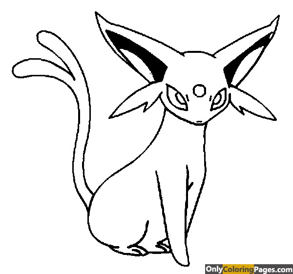 pokemon coloring pages espeon