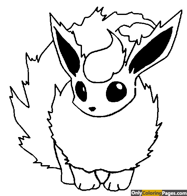 pokemon-coloring-pages-flareon