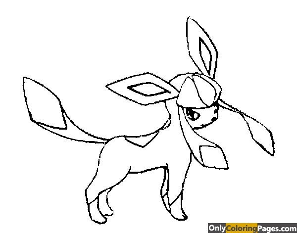 pokemon coloring pages glaceon