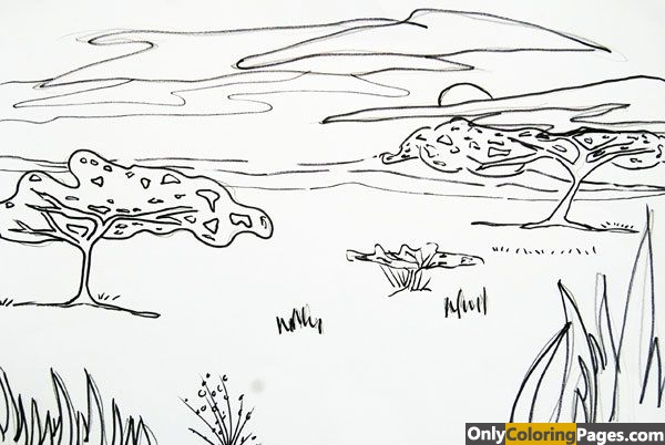 savanna coloring pages