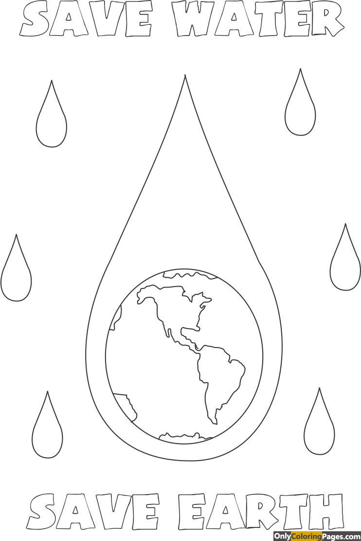 save water coloring pages Free