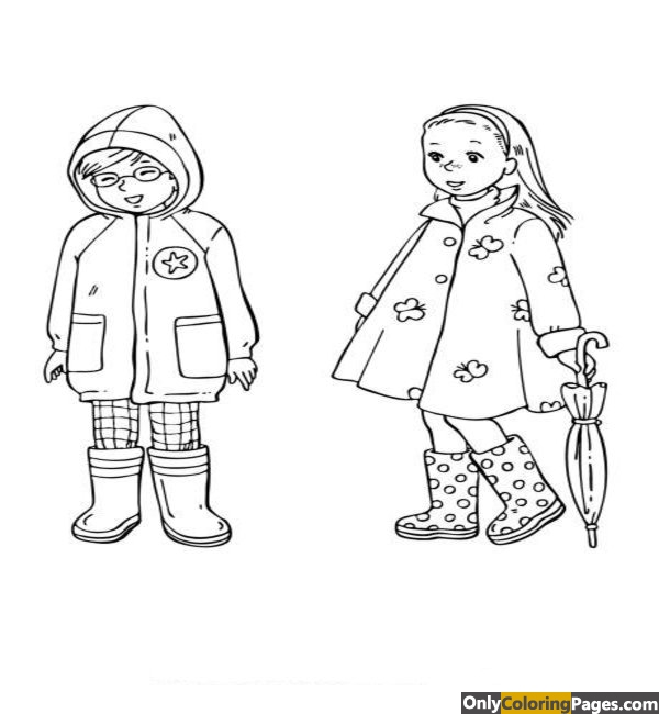 spring clothes coloring pages