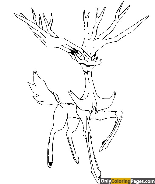 xerneas coloring pages