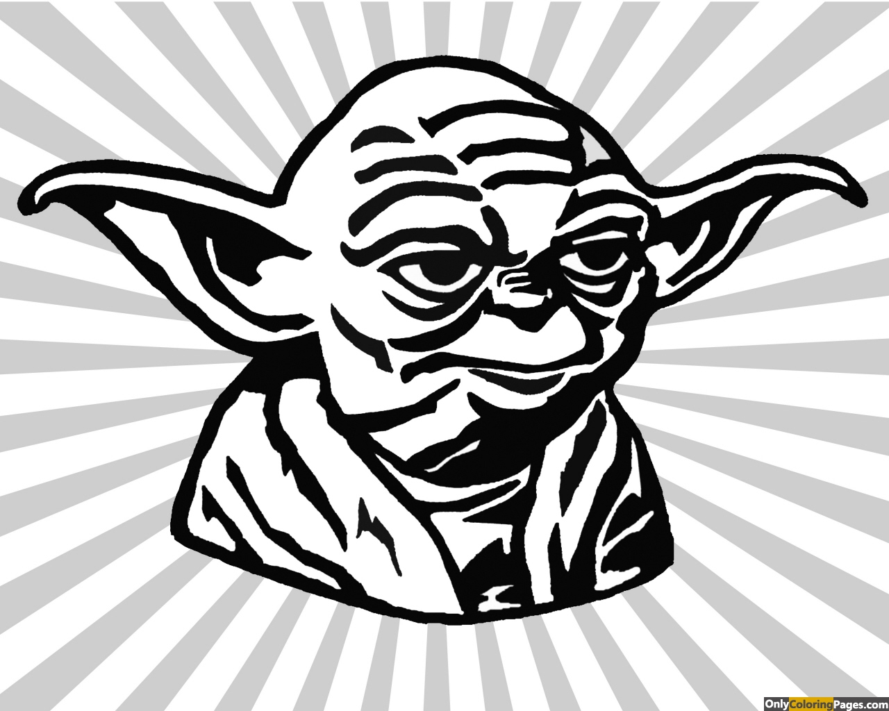 Yoda Face coloring Pages