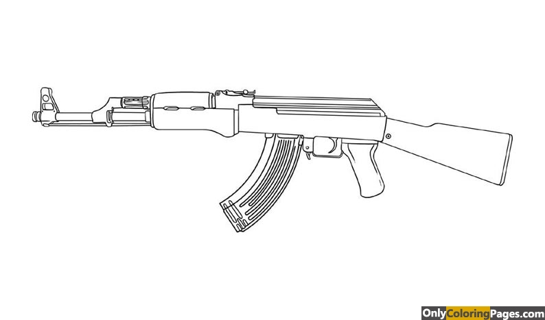 ak 47 coloring pages