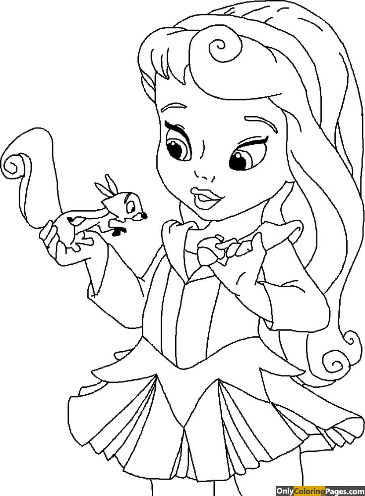 baby sleeping beauty coloring pages