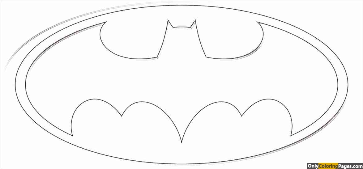 Batman Logo Coloring Pages Free Printable Online Batman