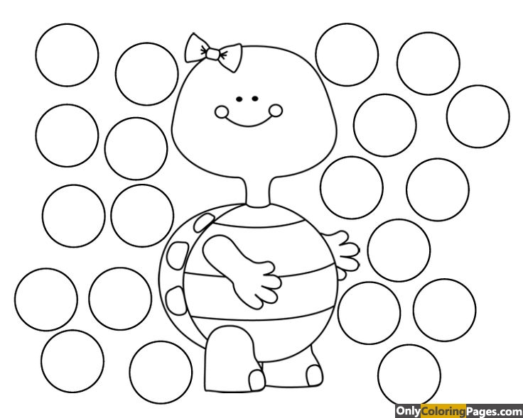 dauber coloring pages