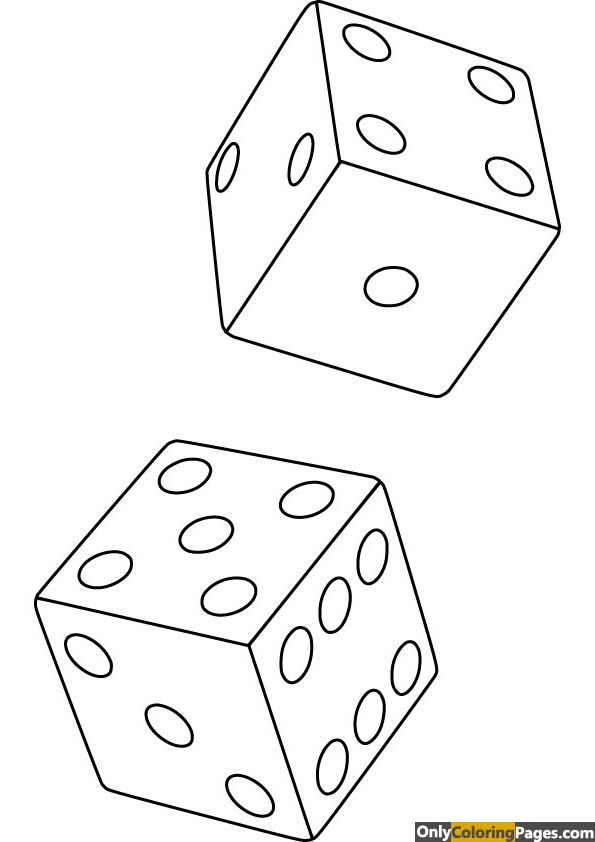 dice coloring page