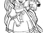 disney baby rapunzel coloring pages