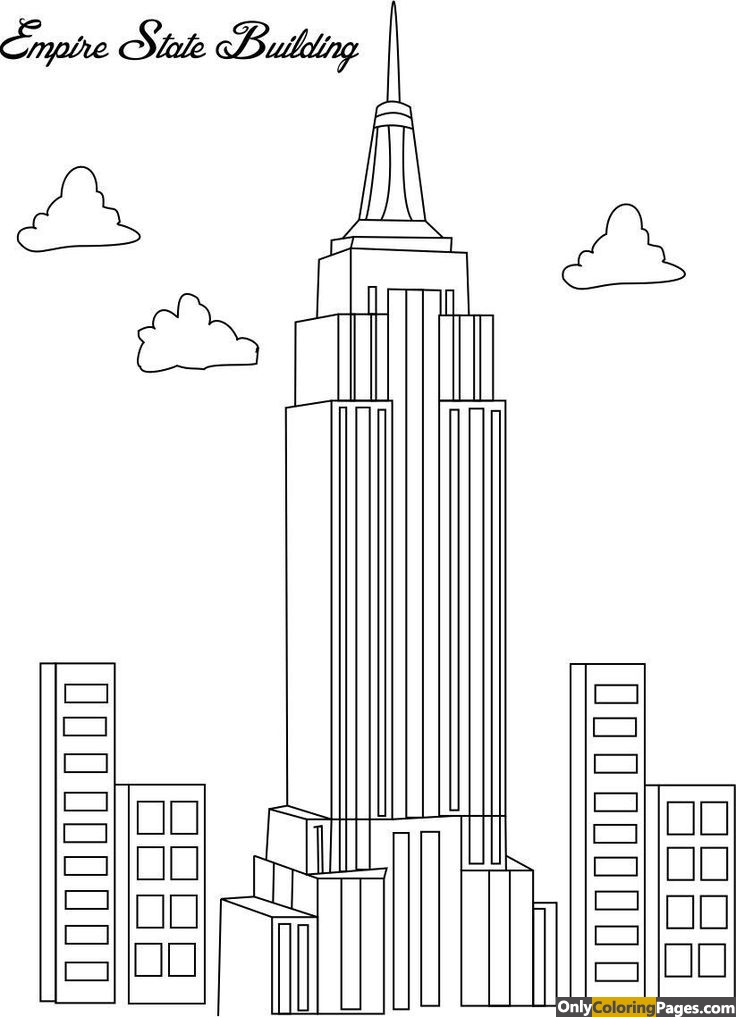 empire state building coloring pages