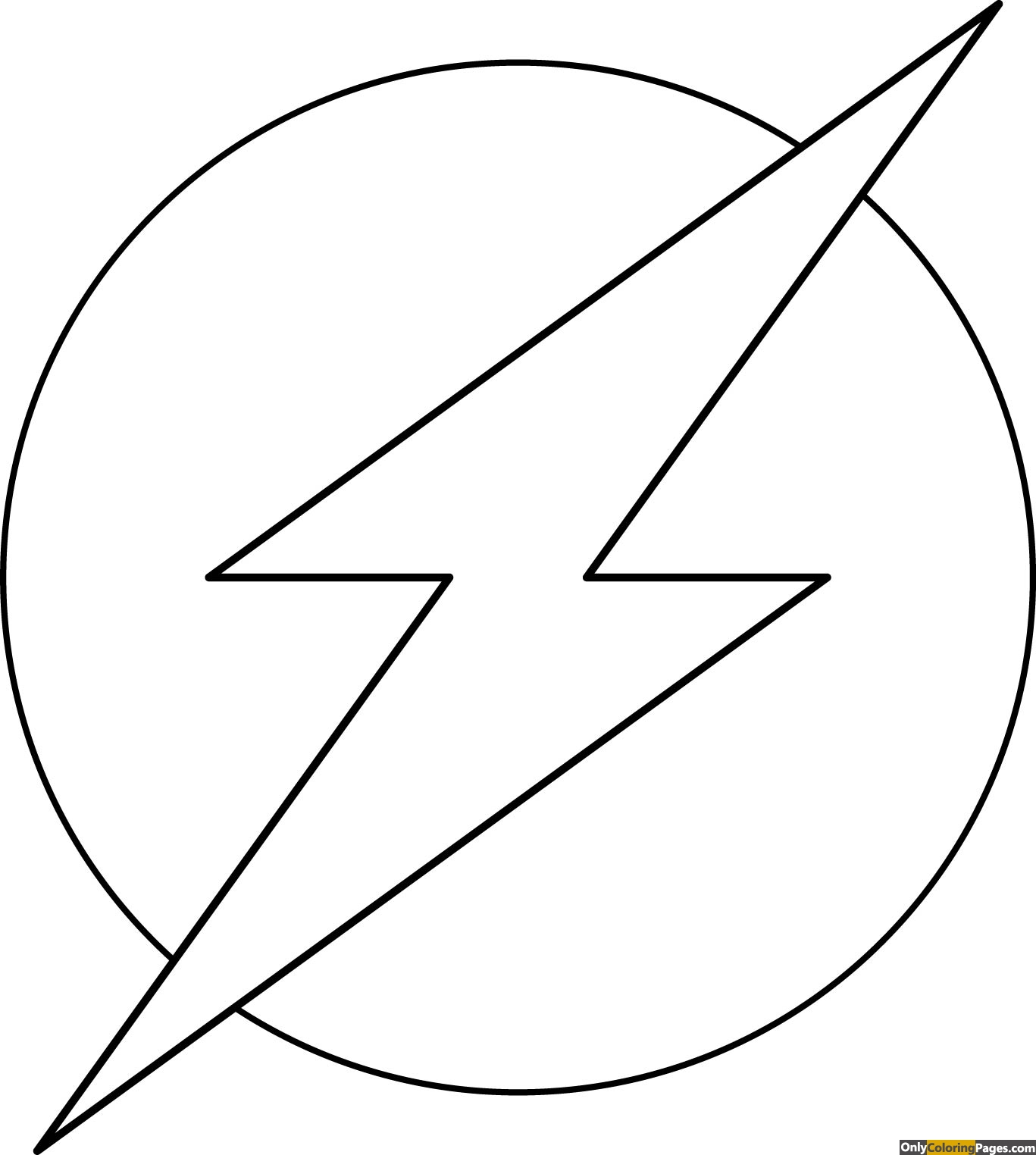flash logo coloring pages