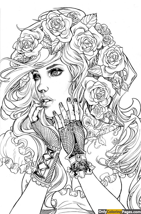 high quality adult coloring page