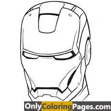 ironman logo coloring pages