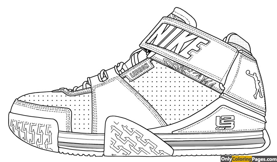 lebron james shoes coloring pages