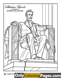 lincoln memorial coloring pages