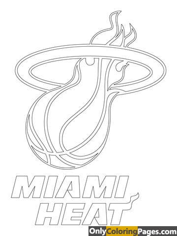 pages, miami, heat, coloring