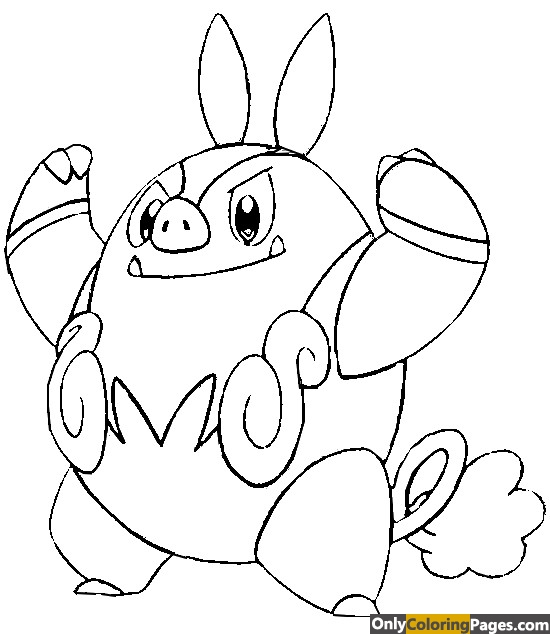 pignite coloring pages