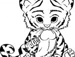 realistic baby tiger coloring pages