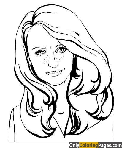 realistic face coloring pages
