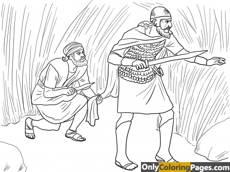saul and david coloring pages